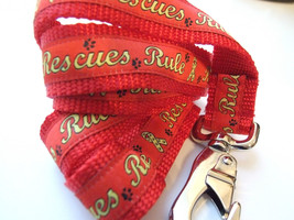 Rescue Rules Red Dog LEASH ONLY  Made in the USA - $14.95