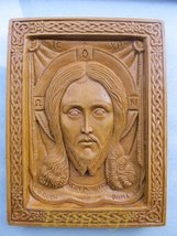 Handmade Carved Aromatic Wax Icon Blessed From Mount Athos of Holy Mandylion 127 - $62.96
