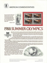 Official 1988 Summer Olympics USPS Commemorative Panel (CP317)  - $4.30