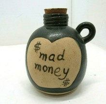 $ Mad Money Pottery Stoneware Bank with Cork Top - $17.81