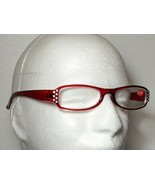 Bling Rhinestone Design Reading Glasses Burgundy+2.50 Unisex Adult  - $9.89