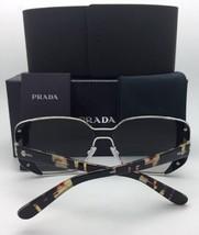 PRADA Sunglasses SPR 18U 4BK-5O0 53-24 Black Ivory Silver w/ Grey Silver Mirror - $359.95