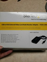 StarTech USB to VGA External Video Card Multi Monitor Adapter - 1920x120... - $37.62