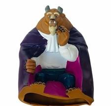 Walt Disney toy figure Beauty Beast hand puppet vtg figurine Belle Adam world  - $23.17