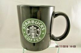 Starbucks Coffee Cup Black Green  Siren Mermaid Logo Mug M Ware made in ... - $9.49