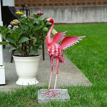 Summerfield Terrace Flying Flamingo Metal Garden Decor, 34 inches - $67.95