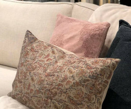 Pottery Barn Jaxton Lumbar Pillow Cover 16x26 Rustic Floral Paisley - $28.65