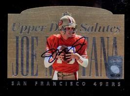 Joe Montana Signed Limited Edition 1995 Upper Deck Salutes Commemorative... - $89.99