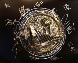 2017 GOLDEN STATE WARRIORS TEAM AUTOGRAPHED SIGNED 16x20 PHOTO w/COA NBA... - £551.79 GBP