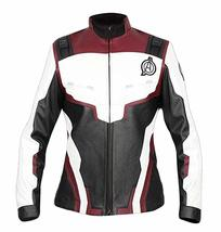 Womens Avengers Endgame Costume Quantum Realm High Tech Maroon Leather Jacket image 1