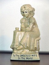Russ Berrie Silliscupt Statue Vintage Sweetest Wife In The World 1971 9016 - $9.99