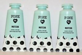 3 Victoria's Secret PINK Matcha Hand & Body Cream w/ Shea 1 fl oz Travel... - $14.24