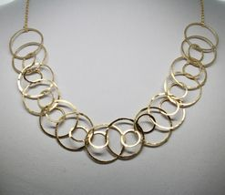 Choker Necklace Silver 925 Foil Gold with Circles by Maria Ielpo Made in Italy image 4