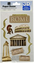 Paper House 3D Stickers - Travel Rome - Scrapbooking - Cardmaking