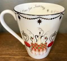 "Lenox Merry & Bright A Time For Sharing Christmas Holiday Porcelain 4"" Mug - $14.95"