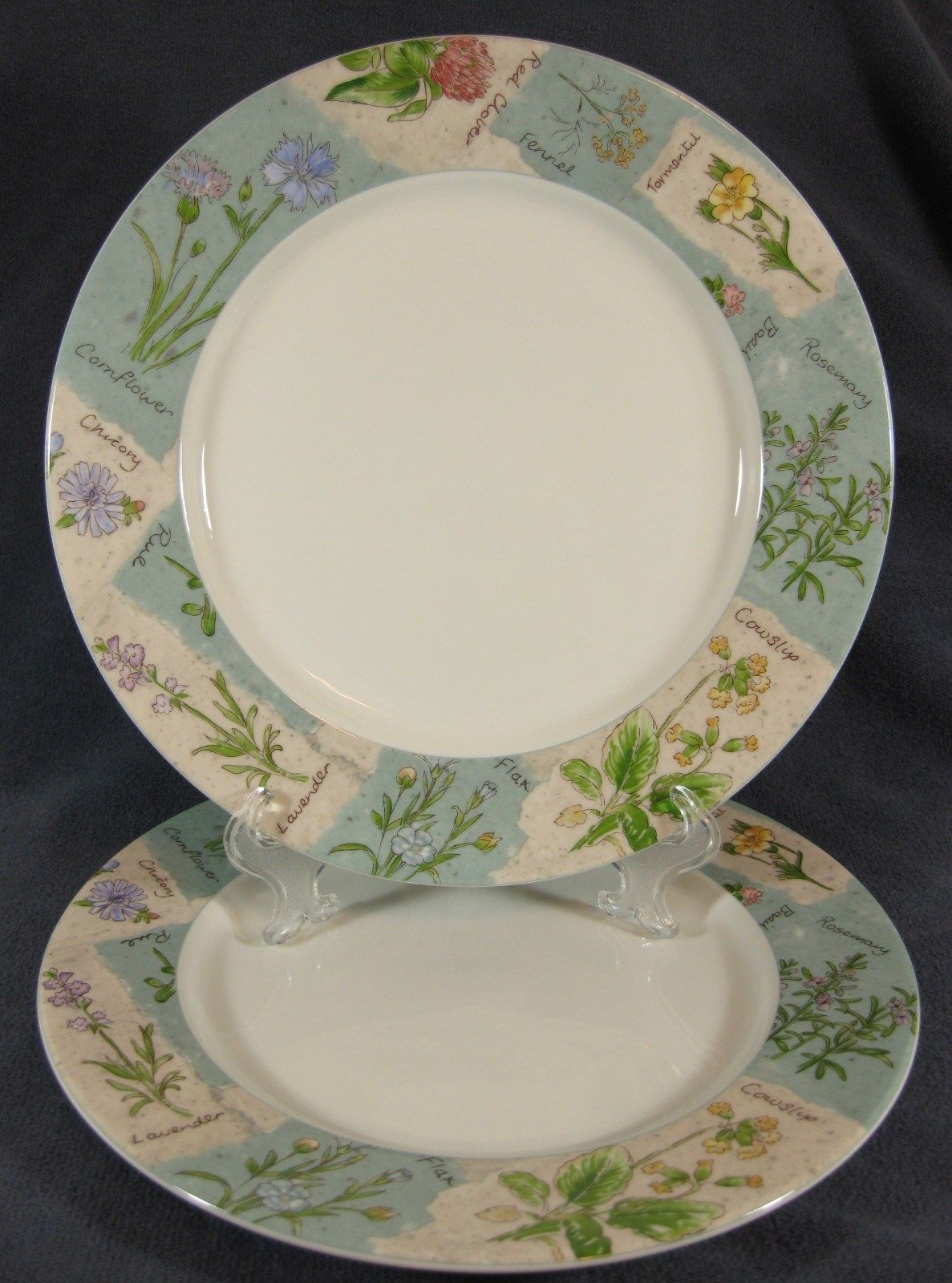"Primary image for Royal Doulton WILDFLOWERS TC1219 Lot of 2 Dinner Plates 11"" Everyday Floral Rim"