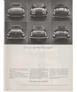 Vtg 1969 Volkswagen Karmann Ghia print magazine advertisement w prices F... - $14.00
