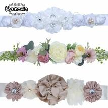 Kyunovia wedding sash Fashion Polyester Floral Women Dress Belts Wedding... - $12.86