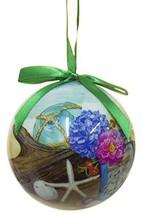 Cape Shore Seaside Gathering Beach Scene Designed Hanging Ball Ornament - $12.50