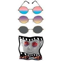 Retro Round SUNGLASSES 60s go-go 70s disco hippie elt john lennon orange... - $13.15 CAD