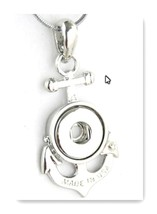 Pendant Anchor for  charms Interchangable Jewelry snap button charm 12mm... - $10.49