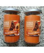 Lot of 2 Yankee Candle Spiced Orange Autumn 12 oz Medium Tumbler Candles... - $20.00