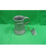 Vintage Pewter Metal Mug The Olde Badford Co. 1776 Solid Pewter Mug Intr... - $16.79