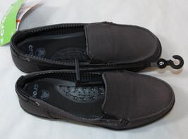 Womens crocs standard fit Walu canvas loafer slide shoe W 6 boat shade variation - $29.39