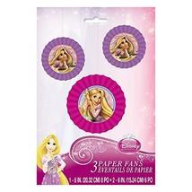 Disney Tangled Paper Fan Decorations, 3ct - $7.79