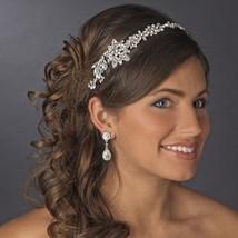 Vintage Silver Royal Crystal Bridal Headpiece Side Accent Headband Prom ... - $94.95