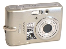 Nikon COOLPIX L11 6.0 MP Digital Camera - Matte silver - $22.99