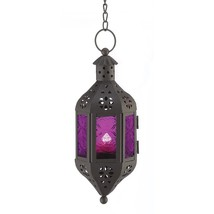 Glass Lantern Candle, Hanging Mystical Moroccan Decorative Holder Lanter... - $19.59