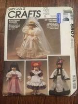 """McCall's 5907 """"A Victorian Treasure"""" Fits Dolls 13',14'16'  UNCUT - $3.86"""