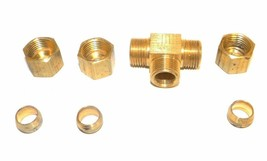 """Big A Service Line 3-16450 Hydraulic Tee Connector Fitting 5/16"""" - $14.75"""