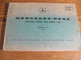 Mercedes-Benz Type 190C 190Dc 200 230 200D Parts Catalog Manual W110 196... - $60.07