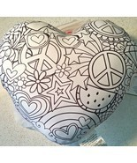 Color Your Own Heart Pillow Valentine Craft Kits Purple Peace Hippie NEW Gift - $25.73