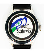 Saettle Seahawks NFL Fossil Relic Rare Unworn Watch, Silver Tone Blue In... - $93.90