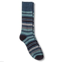 Dress Socks 6 12 Merona Blue Black Gray Stripes NEW Mens - $12.00