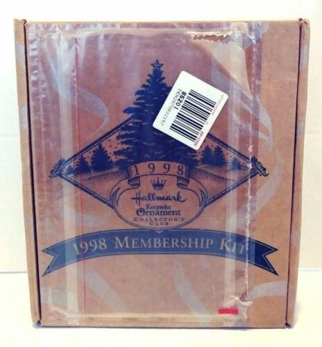 Hallmark Keepsake Ornament Collector's Club 1998 Membership Kit