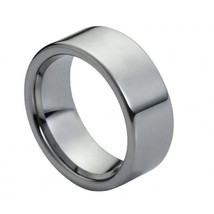 Men's Tungsten Carbide Wedding Band Flat High P... - $59.99