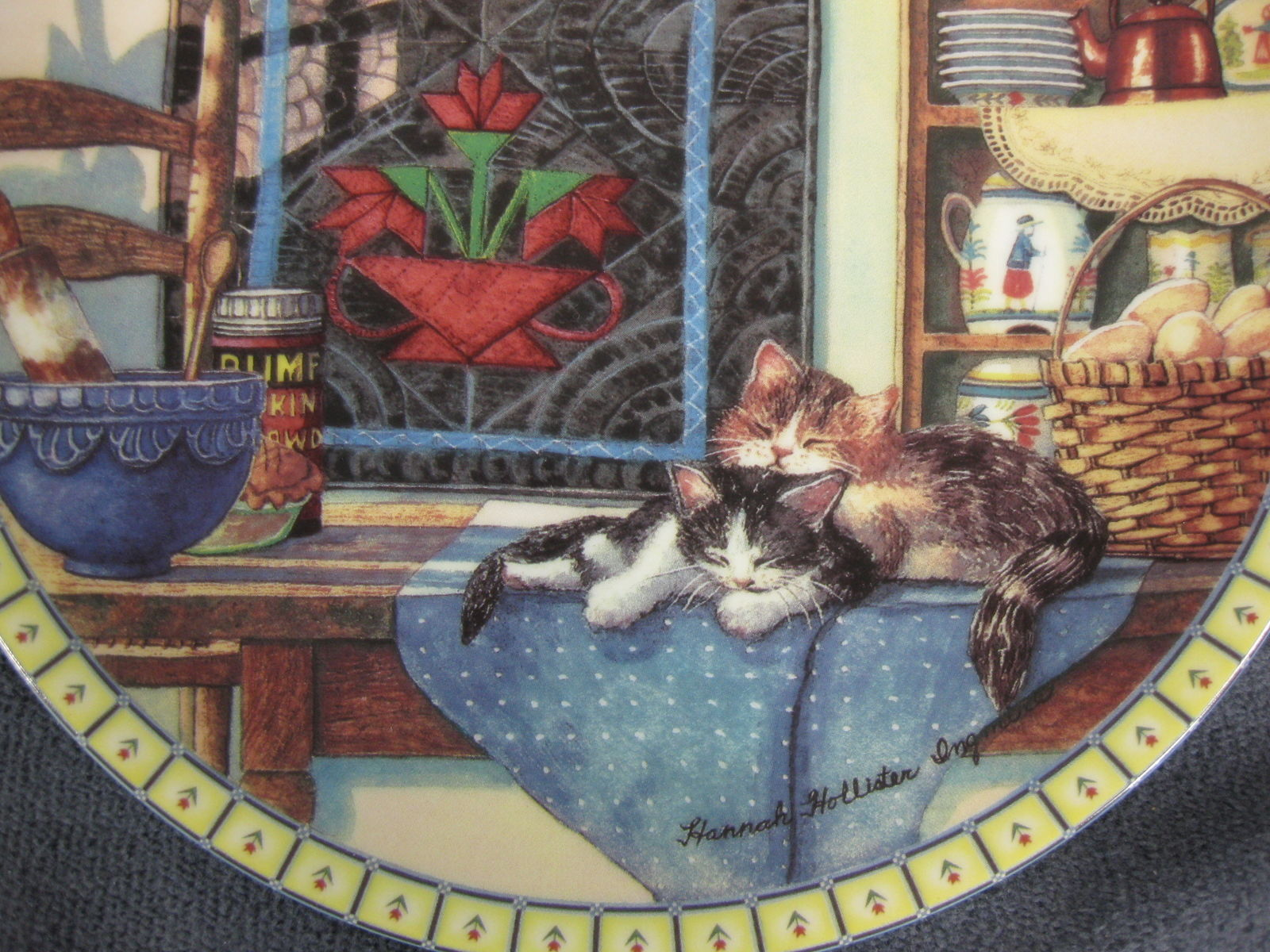 LAZY MORNING Cozy Country Corners Collector Plate Hannah Hollister Ingmire 1990