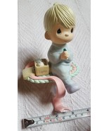 Vintage Collectible 1995 Precious Moments Praying Boy Holiday Stocking H... - $14.30