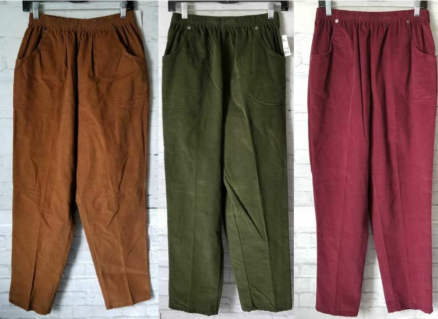 Cabin Creek Clothing: 3 Pairs Of CABIN CREEK Corduroy Pants Sz 14 Elastic