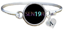Custom Senior 2019 Wire Bracelet Jewelry Class of Graduation Gift Choose... - $16.14