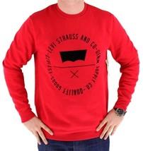 Levi's Men's Premium Classic Graphic Cotton Sweatshirt Red 3LVYM1111F
