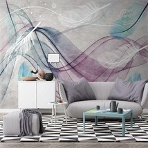 """3D Wallpaper """"Colorful Feathers"""" - $35.00+"""