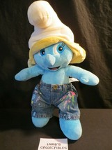"""Smurfette 16"""" Smurfs Build A Bear Plush with Decorated Jeans Stuffed Dol... - $34.90"""