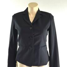 NEW Talbots blazer 12 petite Large classic black wool bl pocket suit jacket - $62.52