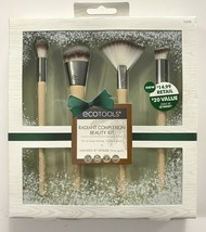 Ecotools Radiant Complexion Beauty Kit Set Of 4 Makeup Brushes New