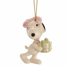 Lenox Peanuts Belle's Surprise Ornament Snoopy Sister Beagle Christmas G... - $54.43